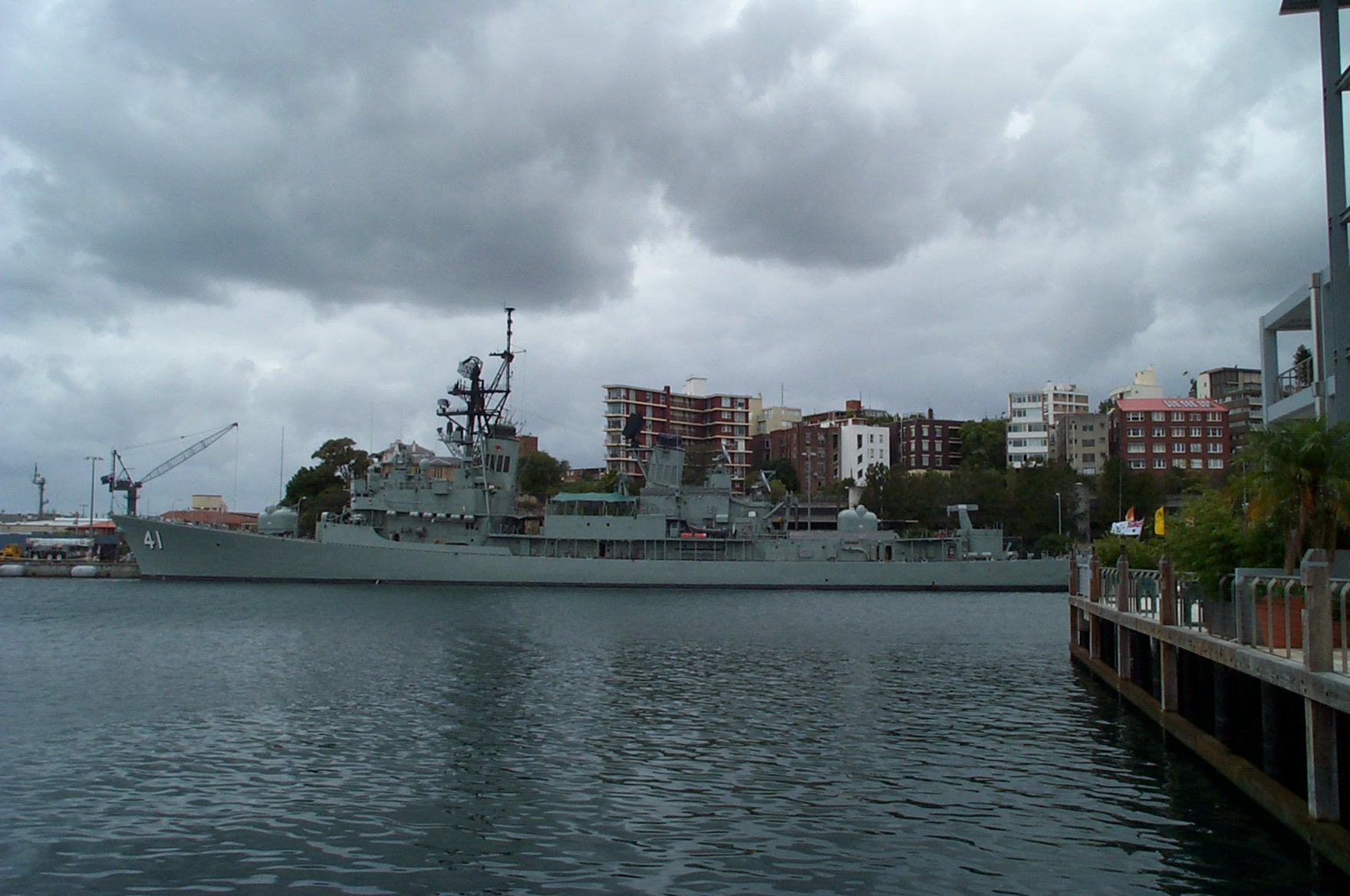 Naval Ship in the Sydney Harbour