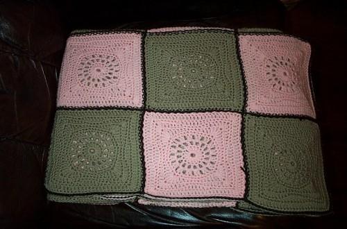 acrylic yarn squares rug
